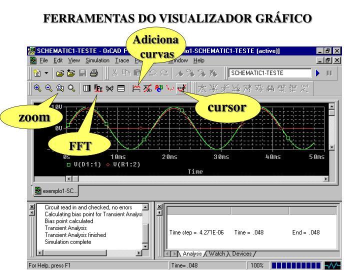 FERRAMENTAS DO VISUALIZADOR GRÁFICO