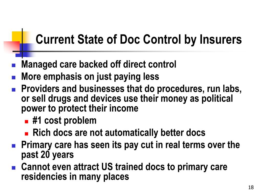 Current State of Doc Control by Insurers