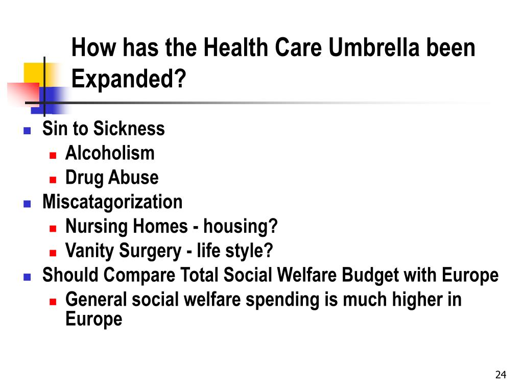 How has the Health Care Umbrella been Expanded?