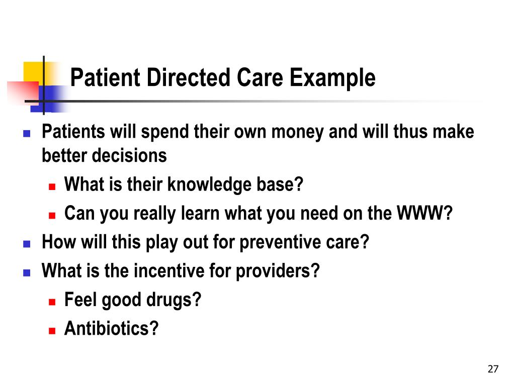 Patient Directed Care Example