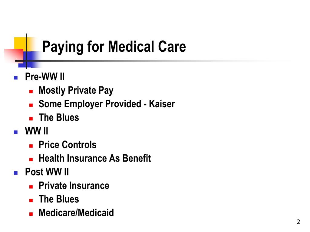 Paying for Medical Care