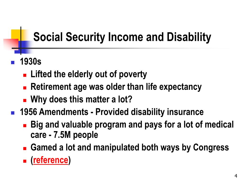 Social Security Income and Disability