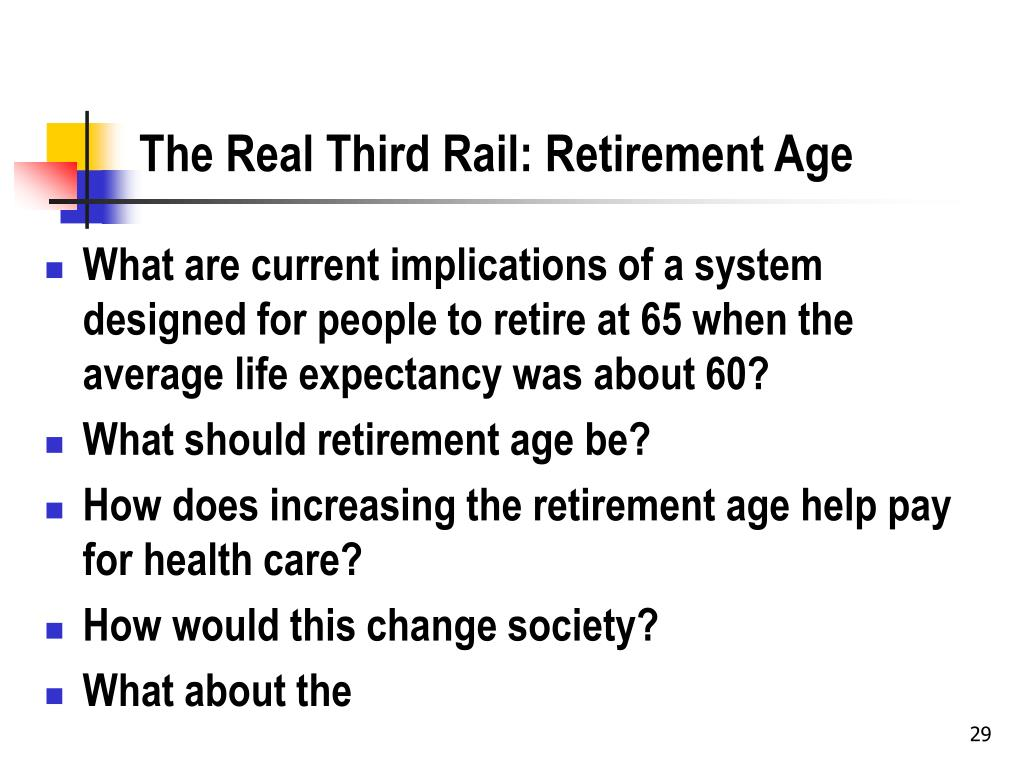 The Real Third Rail: Retirement Age