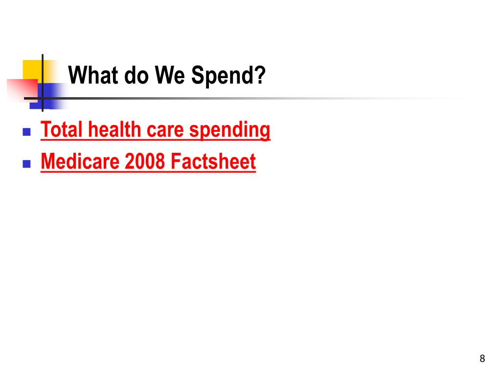 What do We Spend?