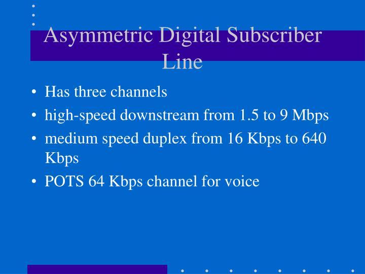 Asymmetric Digital Subscriber Line