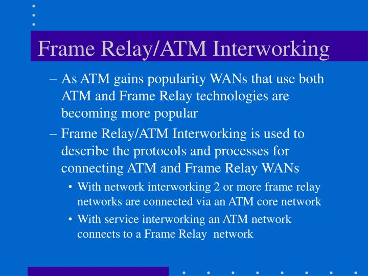 Frame Relay/ATM Interworking