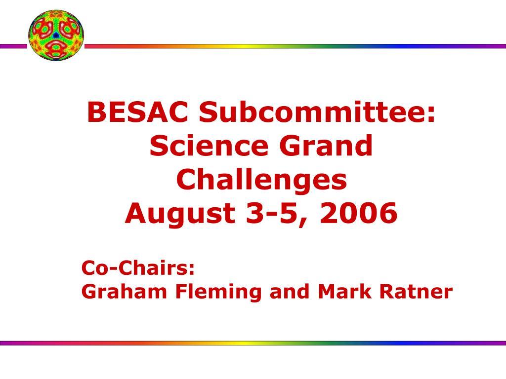 BESAC Subcommittee: