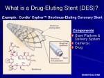 what is a drug eluting stent des