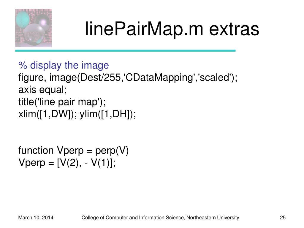 linePairMap.m extras