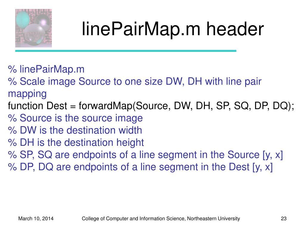linePairMap.m header
