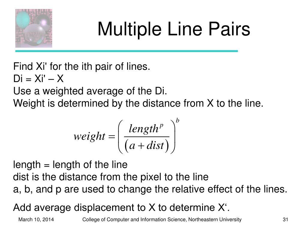 Multiple Line Pairs