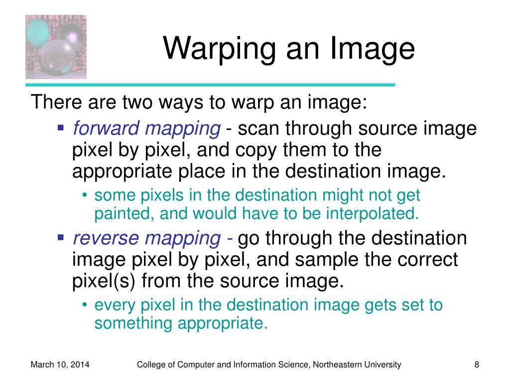 Warping an Image