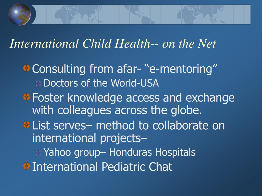 International Child Health-- on the Net
