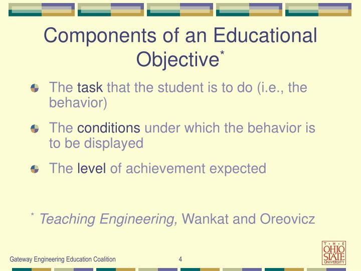 Components of an Educational Objective