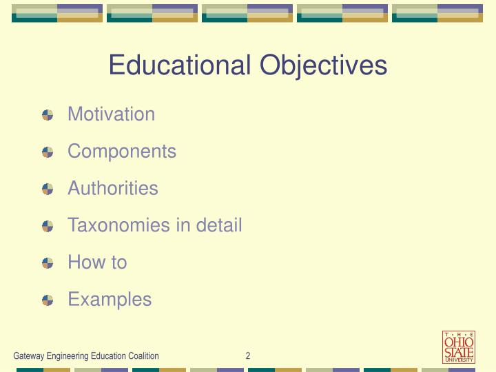 Educational objectives1