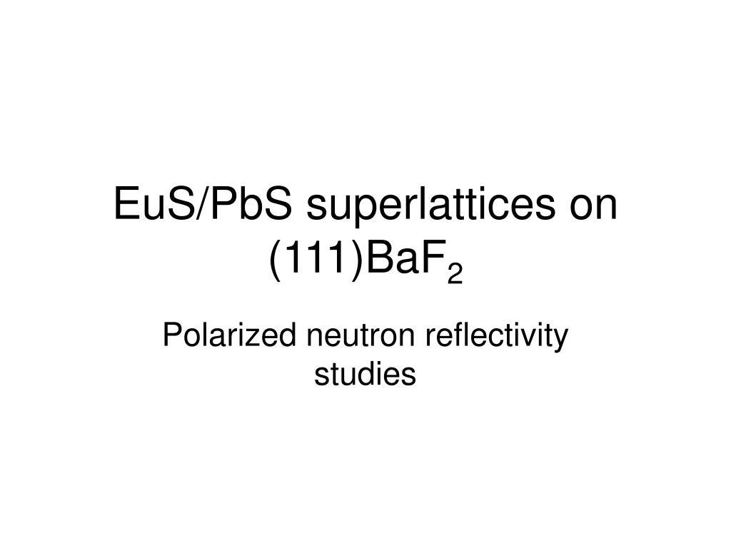 EuS/PbS superlattices on (111)BaF