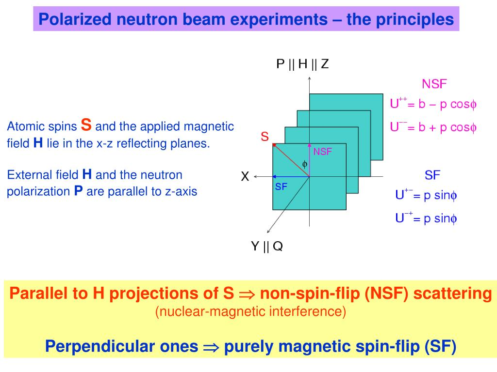 Polarized neutron beam experiments – the principles