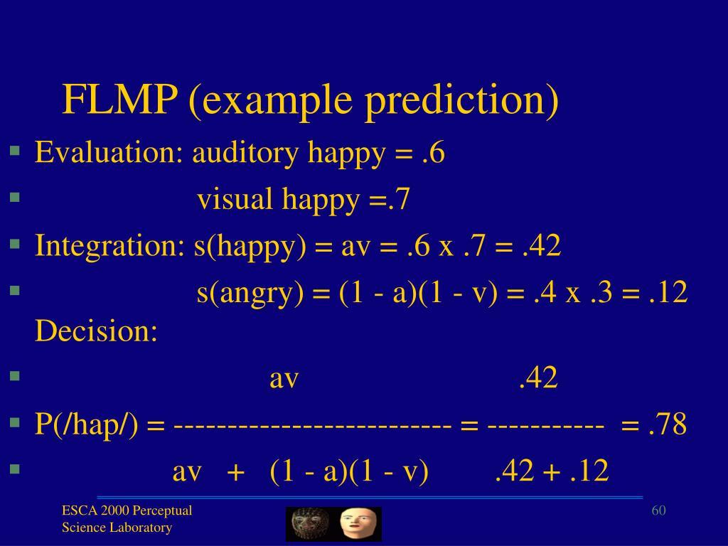 FLMP (example prediction)