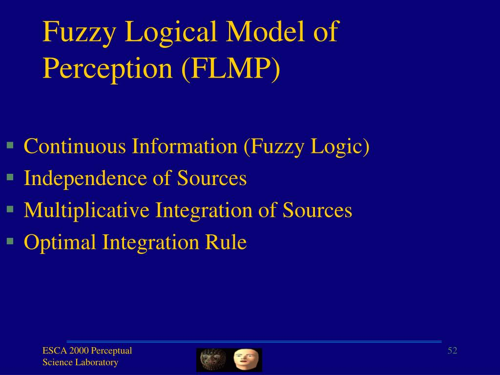 Fuzzy Logical Model of Perception (FLMP)