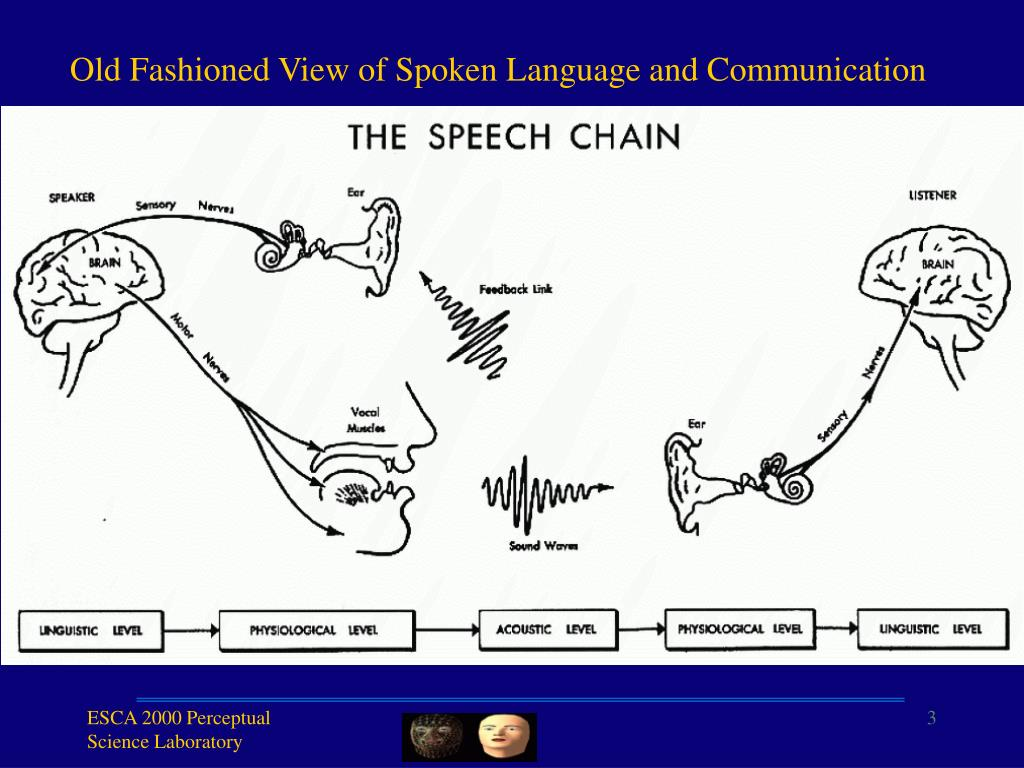 Old Fashioned View of Spoken Language and Communication