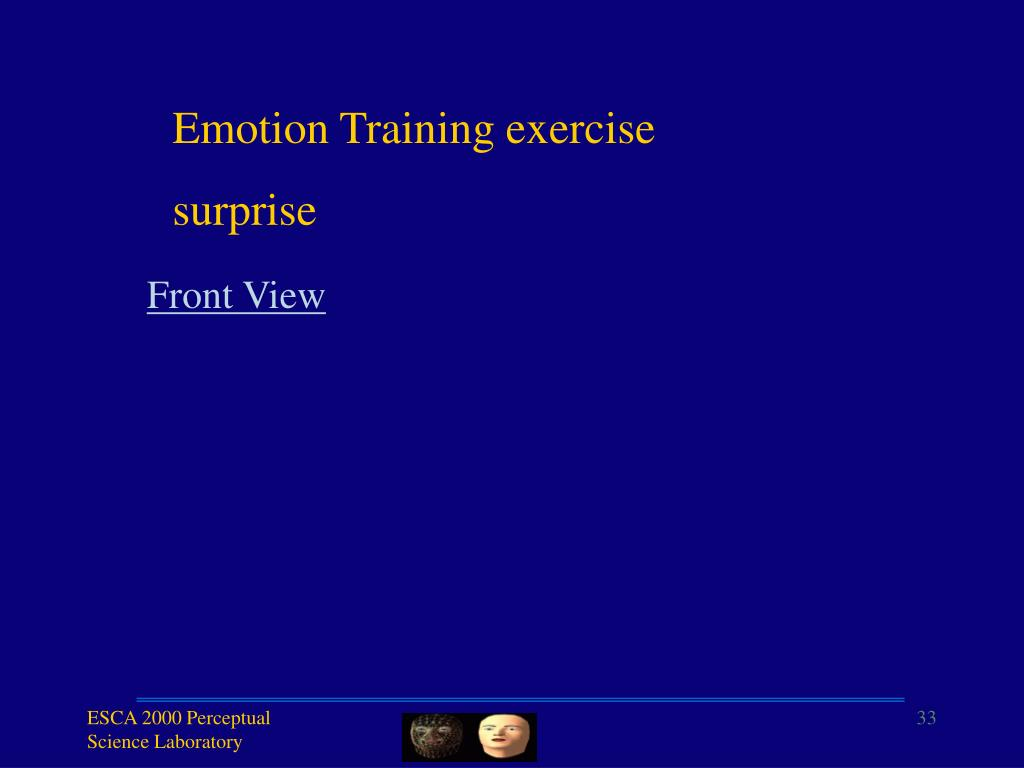 Emotion Training exercise
