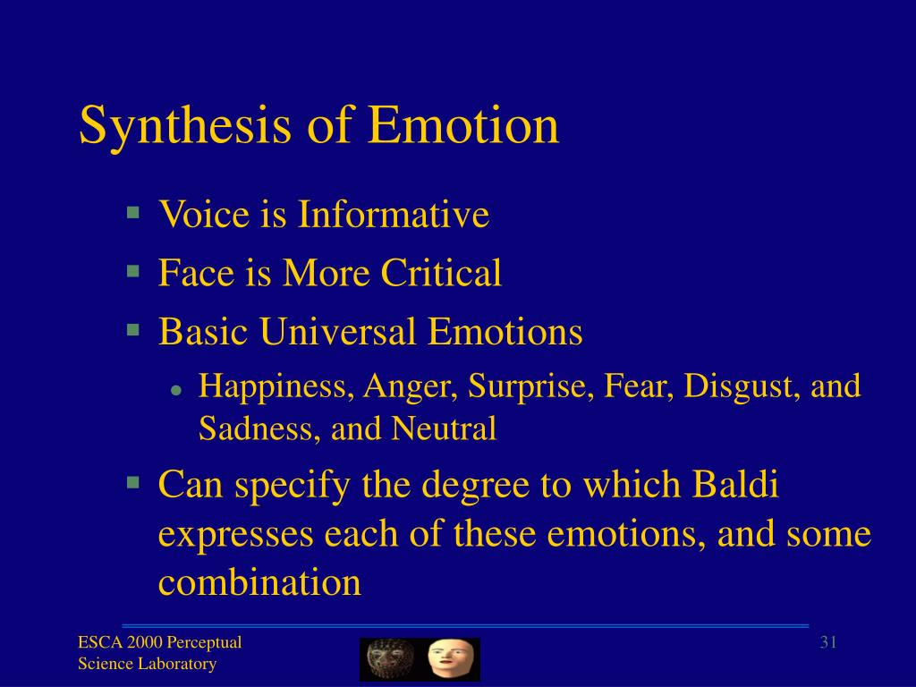 Synthesis of Emotion