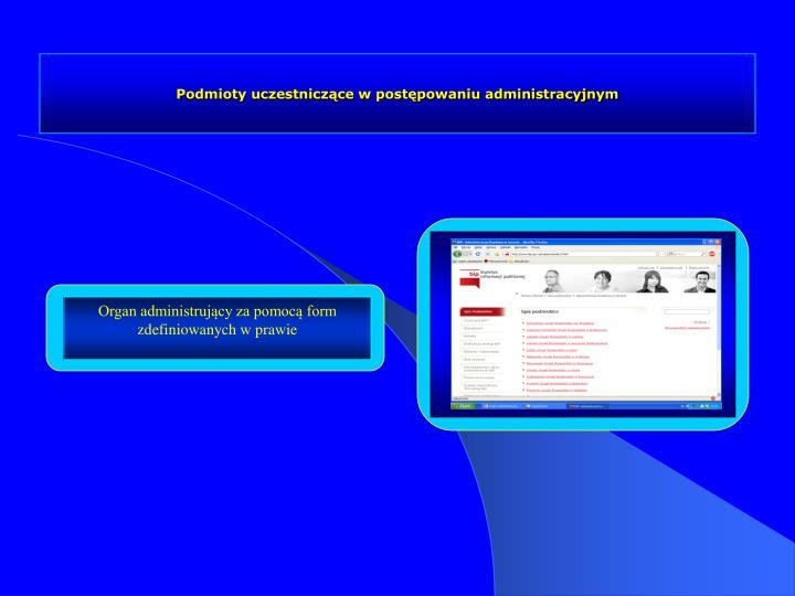 Podmioty uczestniczące w postępowaniu administracyjnym