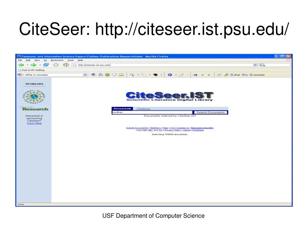 CiteSeer: http://citeseer.ist.psu.edu/