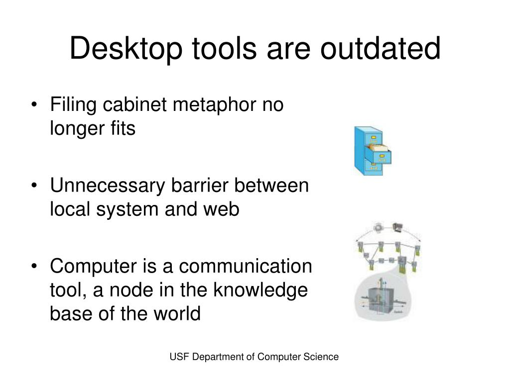Desktop tools are outdated