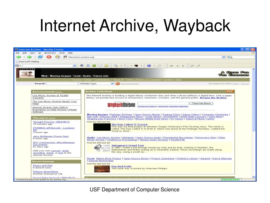 Internet Archive, Wayback