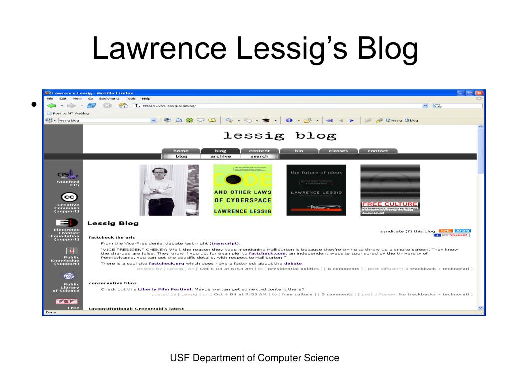 Lawrence Lessig's Blog
