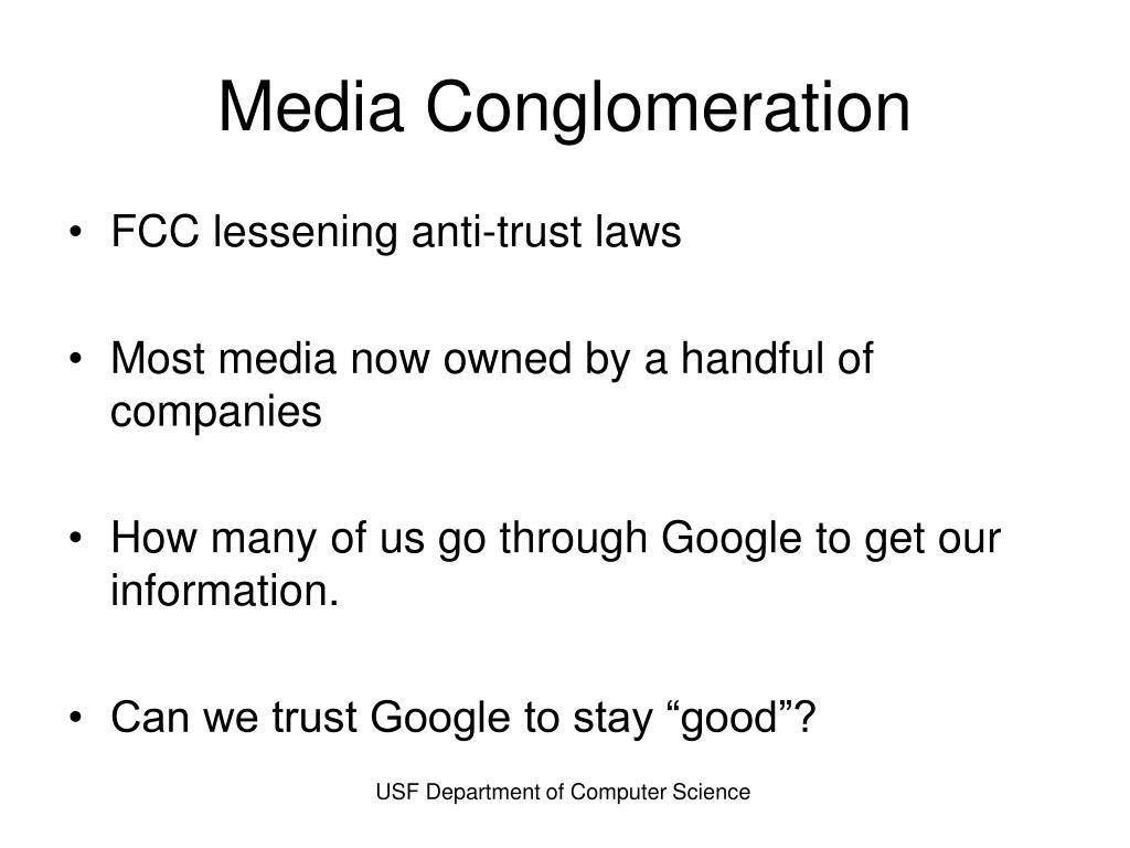 Media Conglomeration