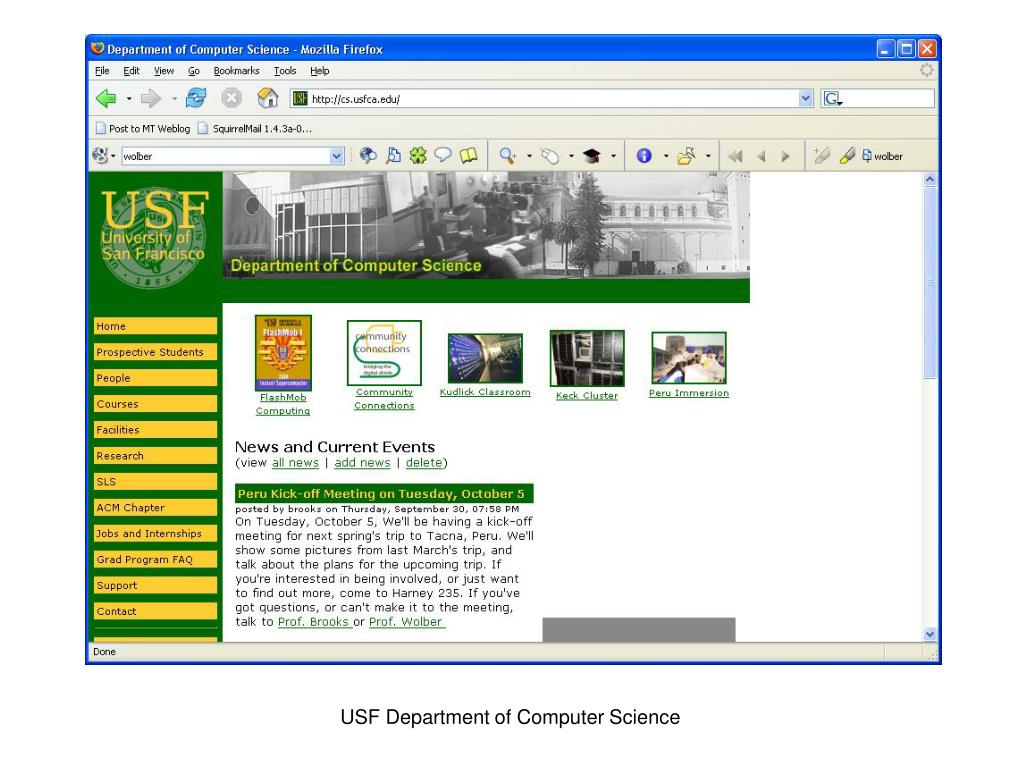 USF Department of Computer Science