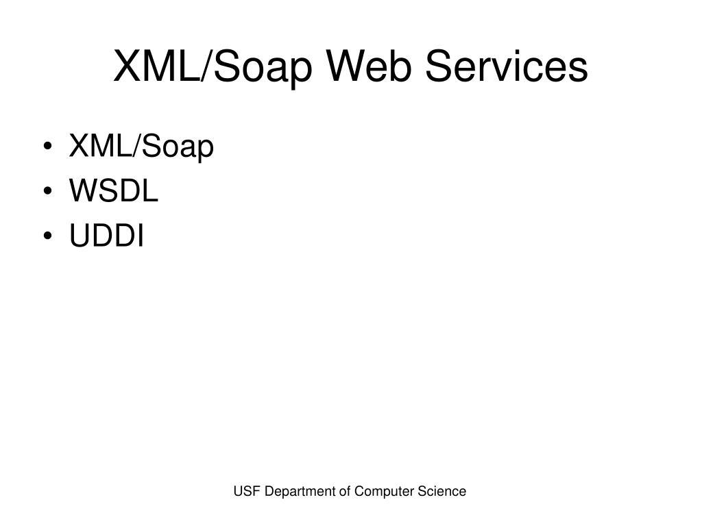 XML/Soap Web Services