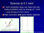 science at 0 1 mev