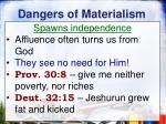 dangers of materialism4