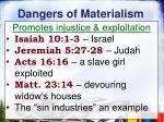 dangers of materialism6