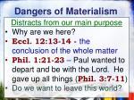 dangers of materialism9