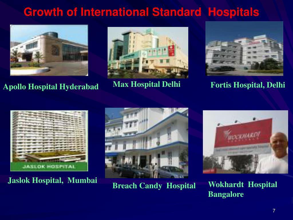 Growth of International Standard  Hospitals