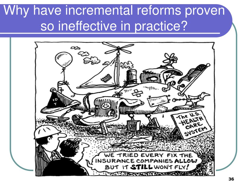 Why have incremental reforms proven so ineffective in practice?