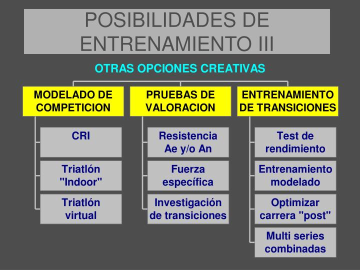 POSIBILIDADES DE ENTRENAMIENTO III
