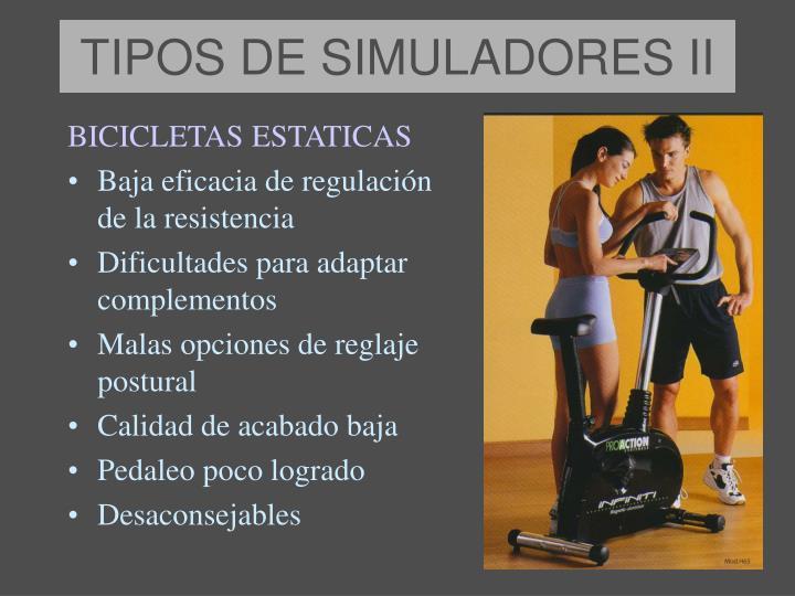 TIPOS DE SIMULADORES II