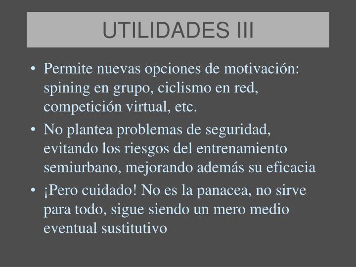 UTILIDADES III