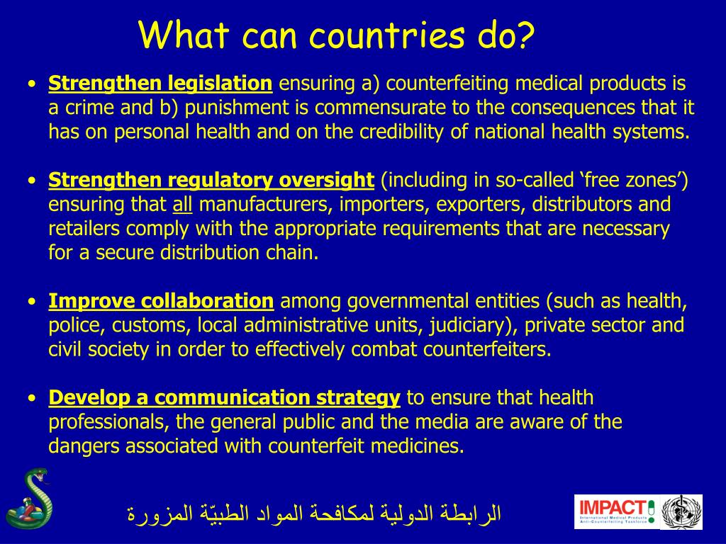 What can countries do?
