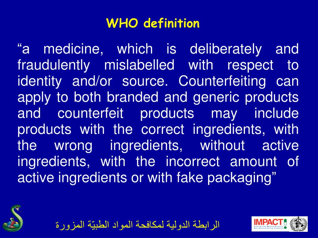 WHO definition