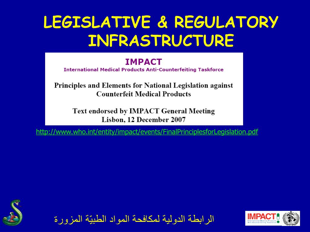 LEGISLATIVE & REGULATORY INFRASTRUCTURE