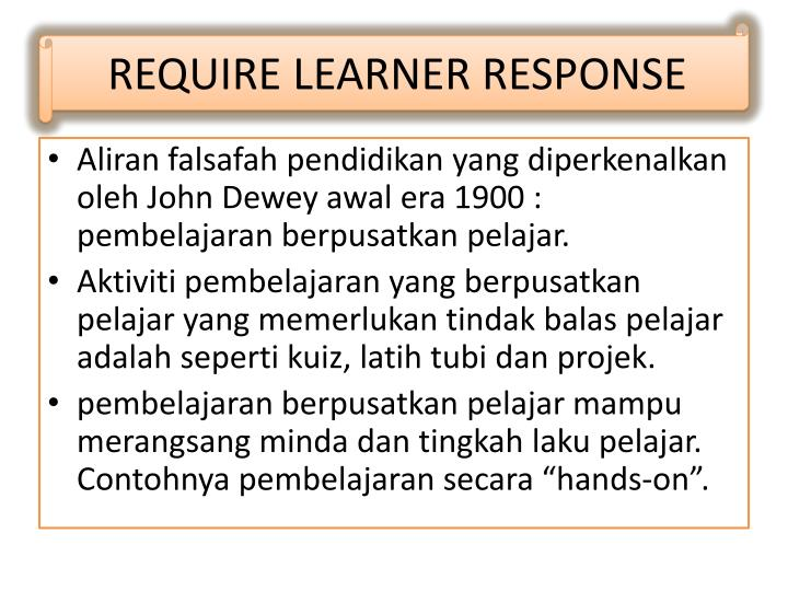 REQUIRE LEARNER RESPONSE