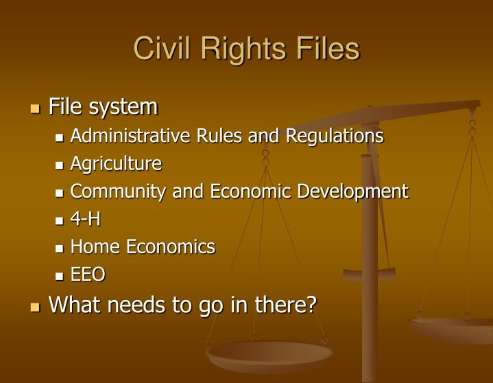 Civil Rights Files