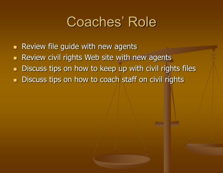 Coaches' Role