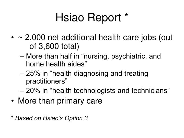 Hsiao Report *